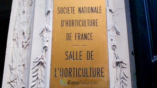 plaque de l'espace grenelle - société national d'horticulture de france